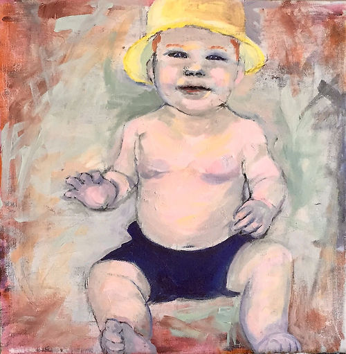 #11, Happy Baby, a painting by Connie Freid
