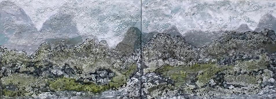 Transformed Vista River Li - Diptych by Rosalind Schneider