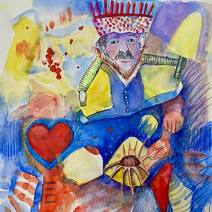 It's Good To Be The King, a painting by Elaine Forrest