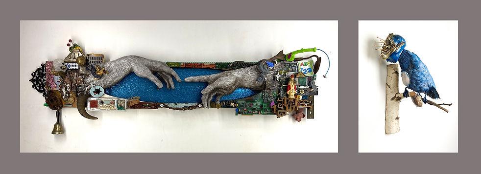 H.o.G. OS Version XXXX and Solitude, sculptures by Suprina