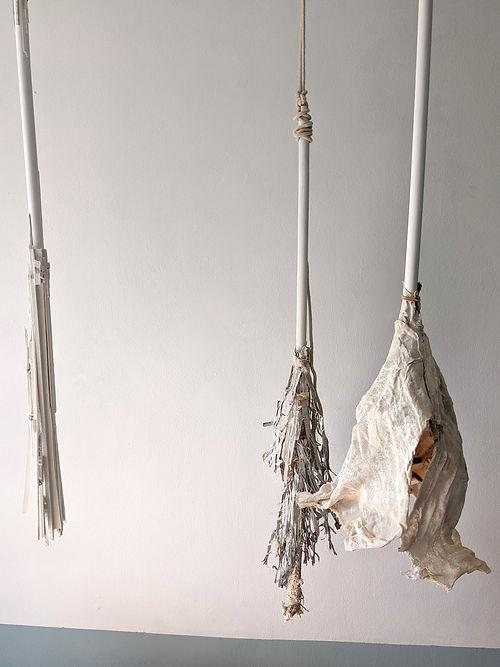 3 Broomsticks, a sculpture by Carol Oster