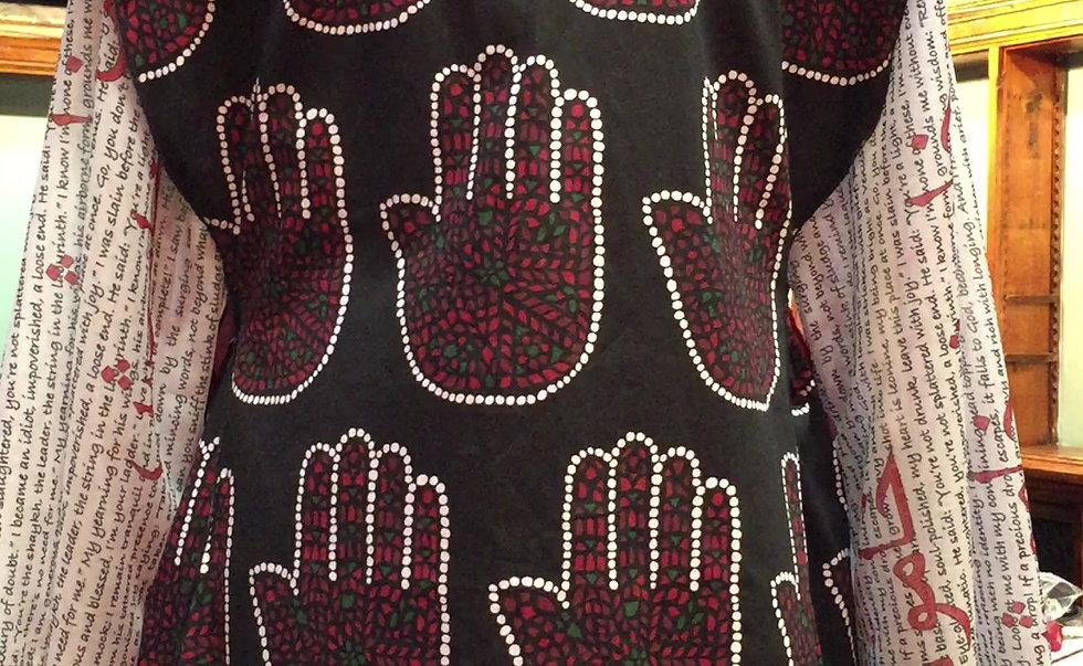 Talismanic Kaftan, a dress by Nazanin Hedayat Munroe