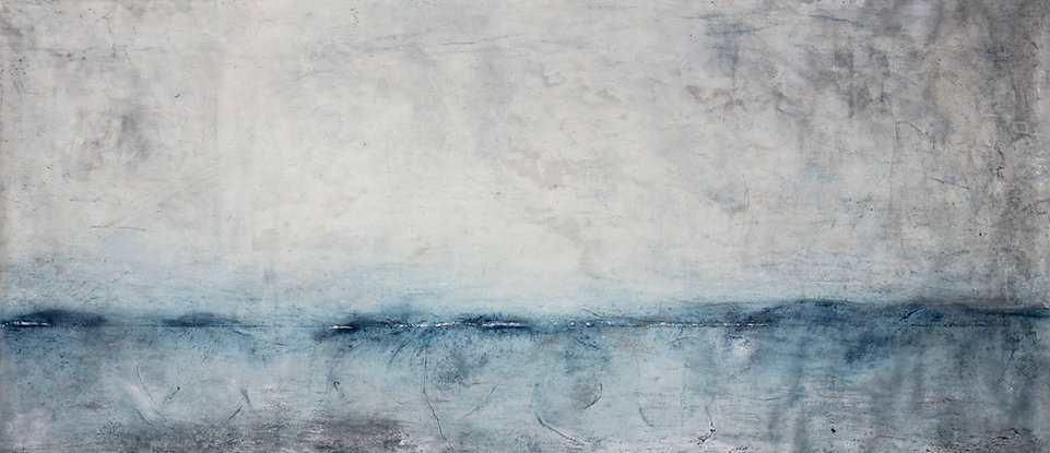 Bare 100x250cm, washi paper, pigments oil and wax