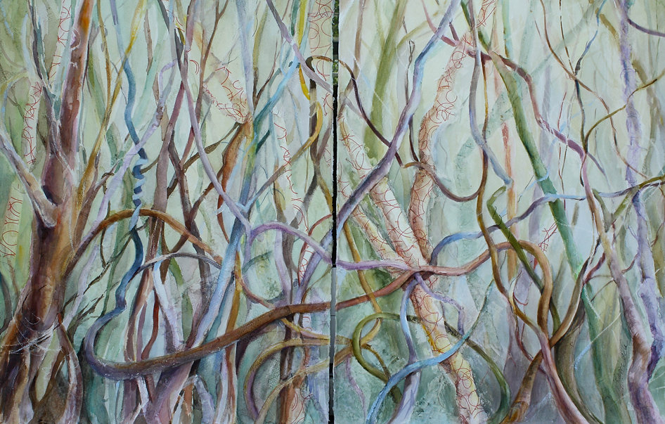Vines, a painting by Cindy Sacks