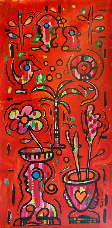 Red Palm Tree by Gert Mathiesen