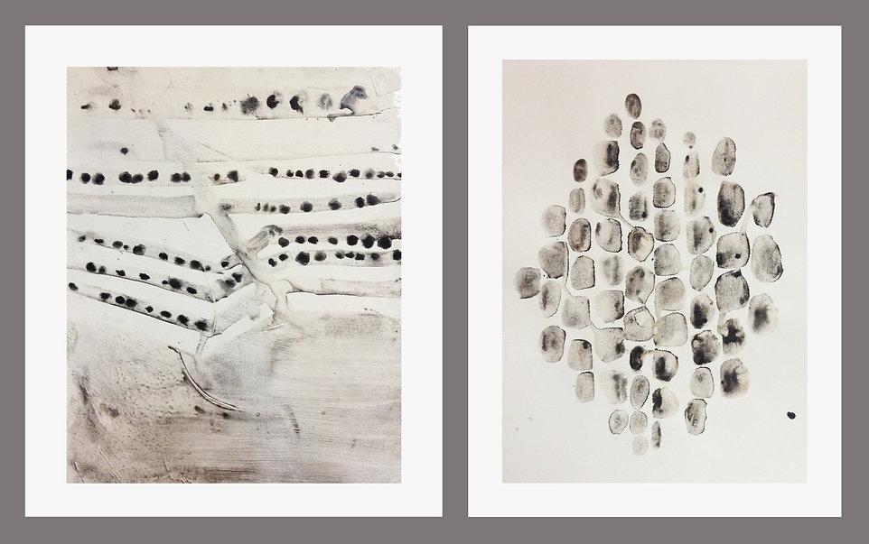 Far Land & Drops, paintings by Shira