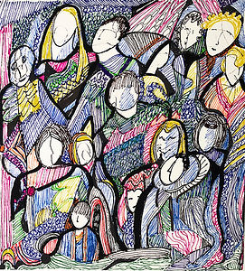 Gathering Together 2A by Alice Harrison