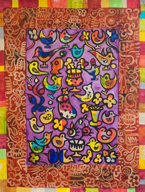 Purple Birds by Gert Mathiesen