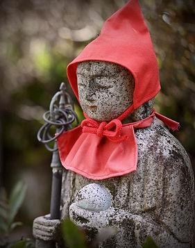 Jizo in Red Cap and Bib