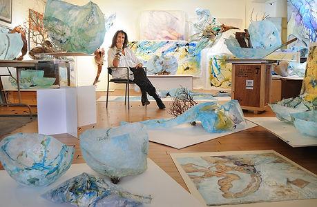 Micheline Klagsbrun In Studio