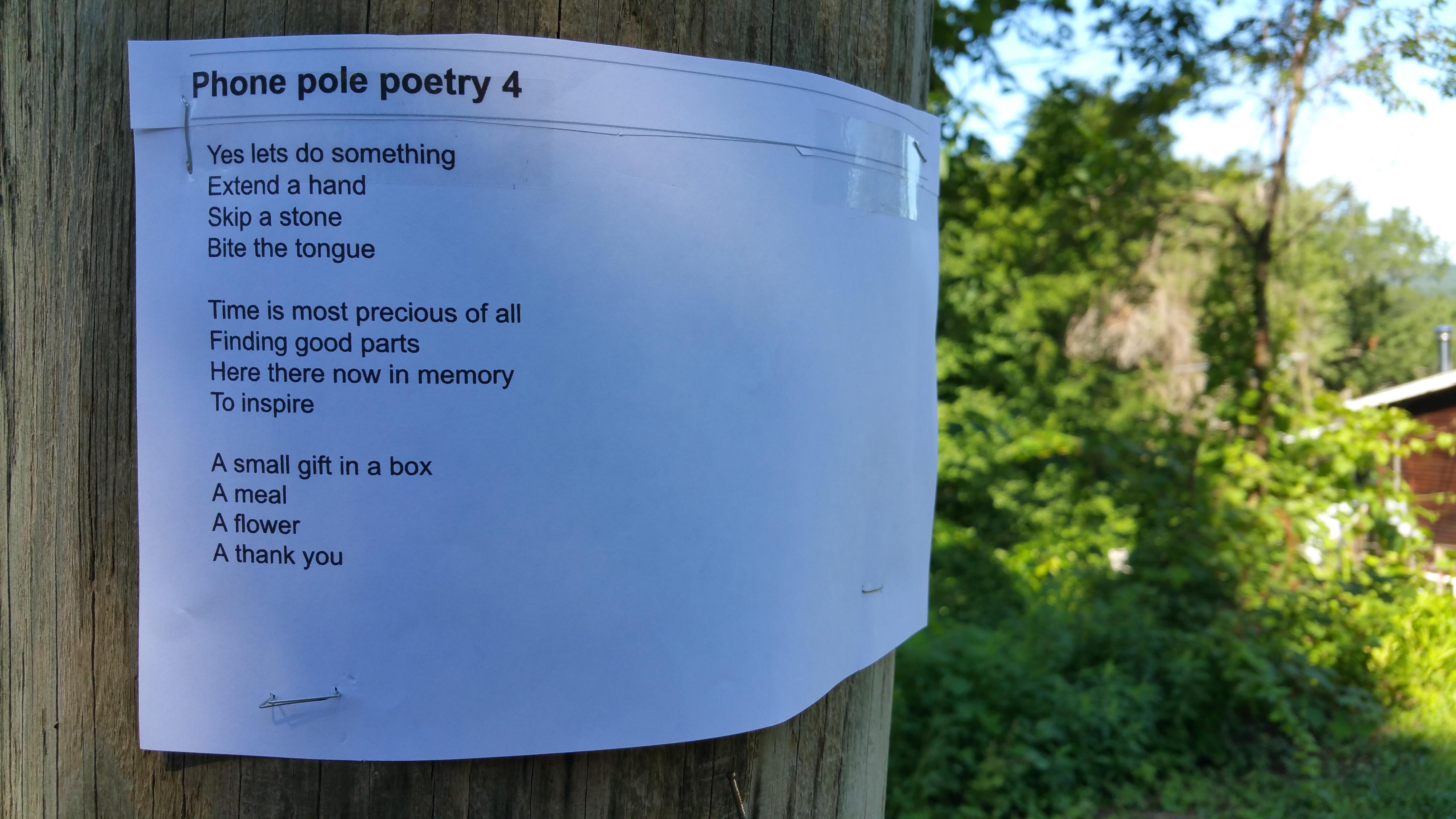 Phone Pole Poem #4