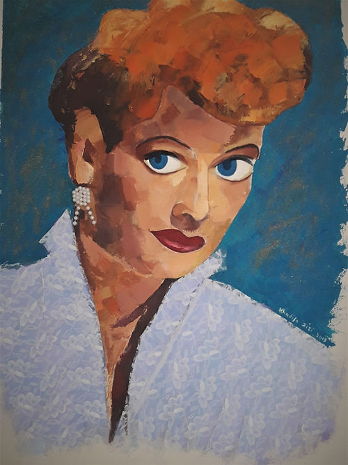 #22 I Love Lucy, a painting by Khadija Zizi