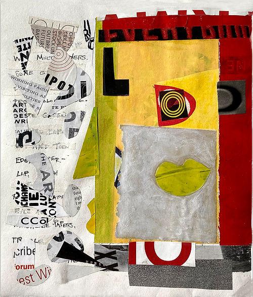 Mouth, a collage by Nancy Egol Nikkal