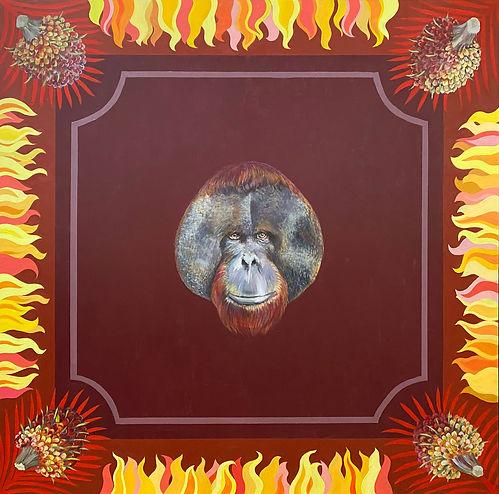 Cinnamon Ape Exile, a painting by Kazaan Viveiros
