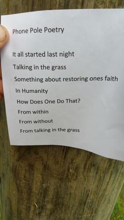 Phone Pole Poem #1