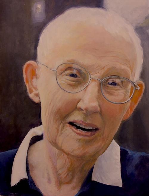 #7, JOKO (Charlotte Beck), American Zen Teacher, a painting by Siena Gillann Porta
