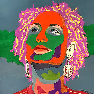 Marielle – The Seed of Brazil's Resistance, a painting by Luzia Castaneda
