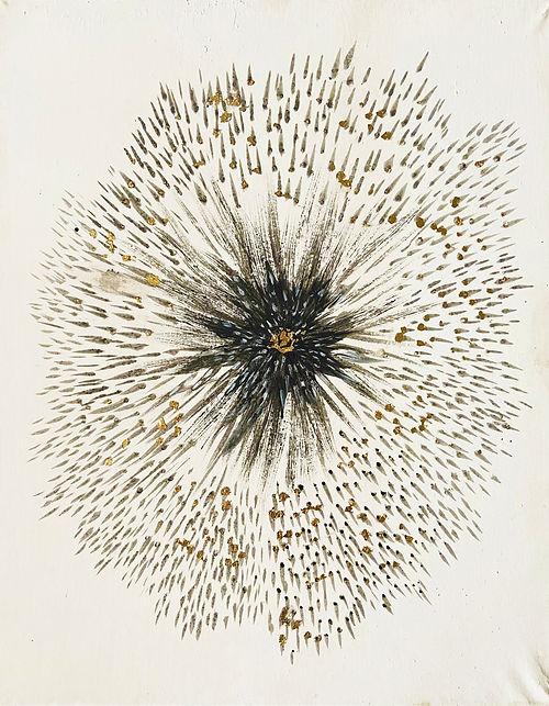 Lava Dandelion, a painting by Shreya Mehta