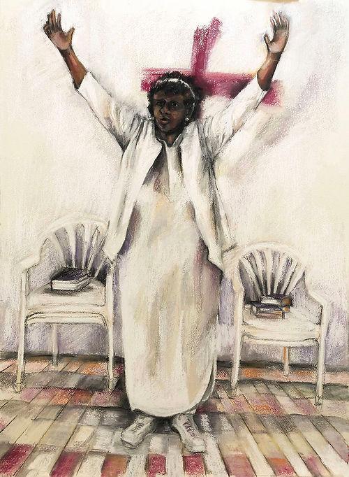 Let Go, Let God, a pastel by Jackie Merritt