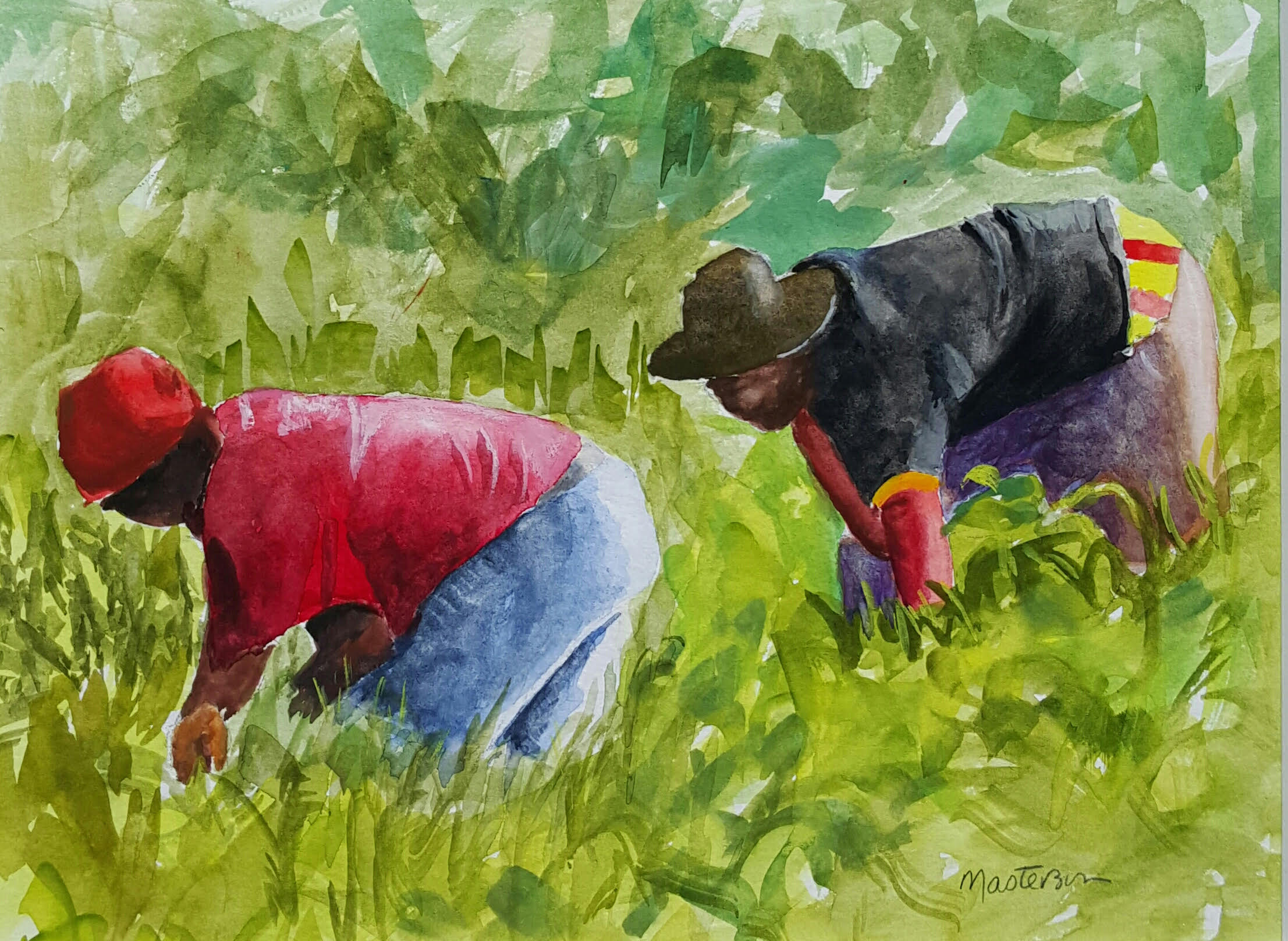 gouache #5, a painting by Barbara Masterson