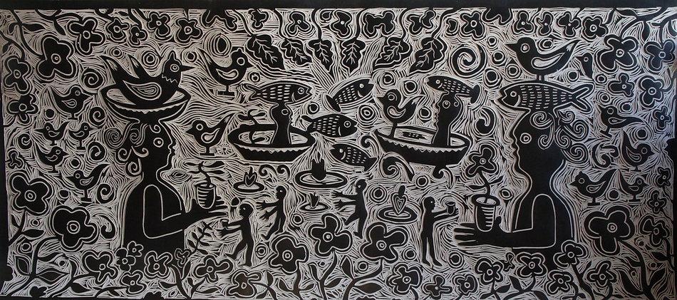 Linoleum Plate by Gert Mathiesen