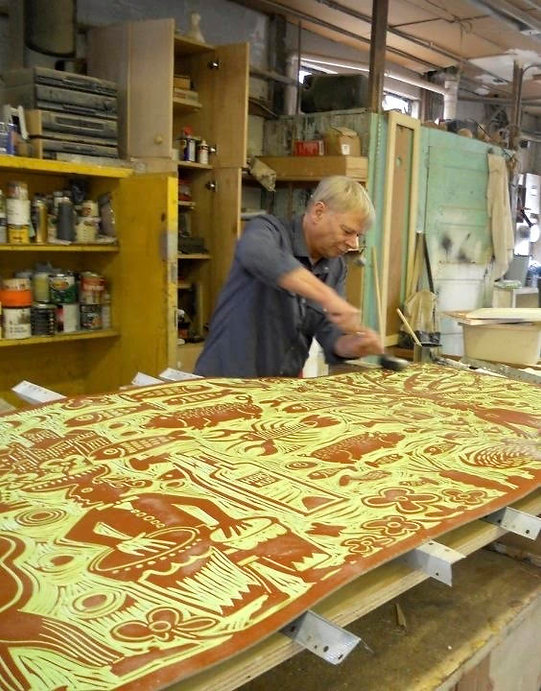 Gert Mathiesen at work