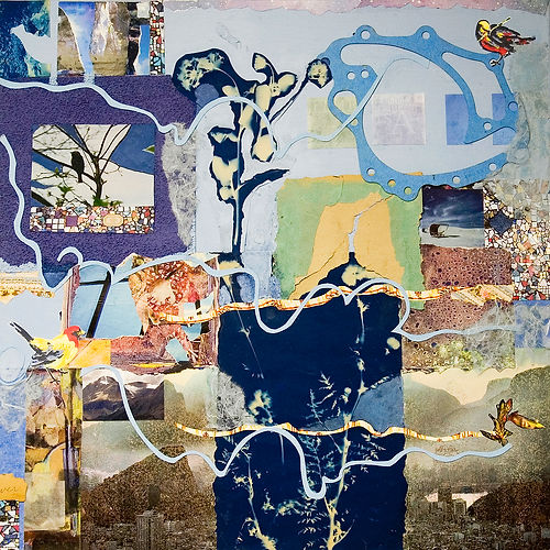 Color of Dreams 4, a collage by Alice Harrison