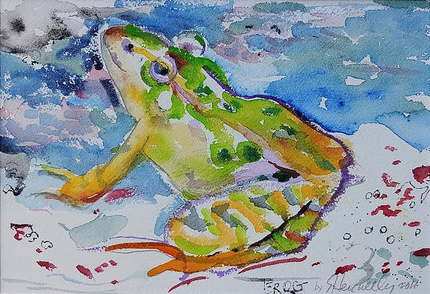 Frog, a painting by Susan Hennelly