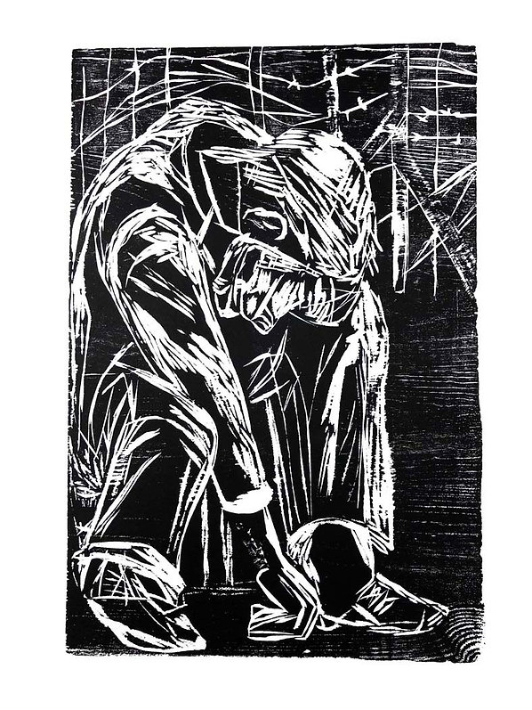 To My Countryman, a woodcut by Ilse Schreiber-Noll.