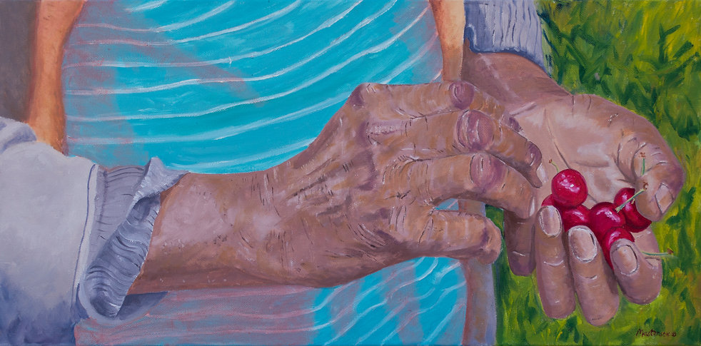 Hands that Feed Us #7, a painting by B
