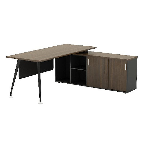 Executive Desk ABBIE Form7 Series (Model 2 Drop Height with modesty) 7C2R-1816