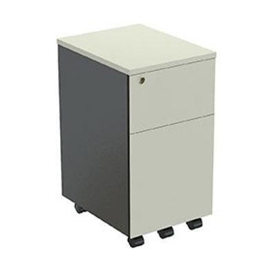 ตู้ล้อเลื่อน 2 ลิ้นชัก ไม่มีมือจับ APN-23465