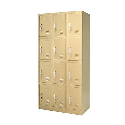 ตู้ล็อคเกอร์เหล็ก 12 ช่อง ZLK-6112