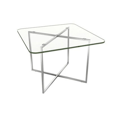 Coffee Table PISA Glass Top (สี่เหลี่ยมจัตุรัสขอบมน) PIC66SRG