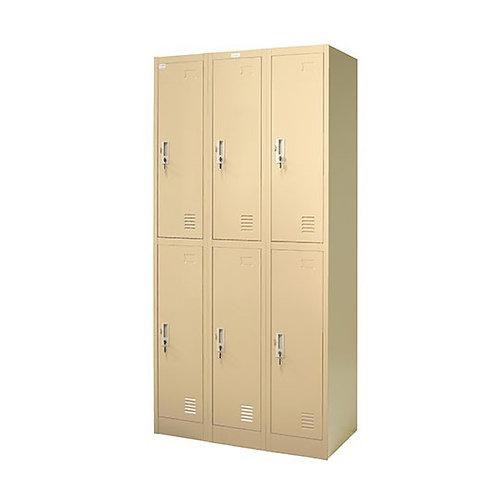 ตู้ล็อคเกอร์เหล็ก 6 ช่อง ZLK-6106