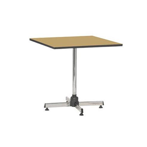 โต๊ะสี่เหลี่ยมขาชุบโครเมียมเอนกประสงค์ (หน้าลามิเนตลายไม้ขอบดำ) TG-7676W