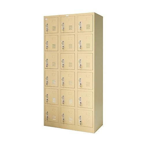 ตู้ล็อคเกอร์เหล็ก 18 ช่อง ZLK-6118