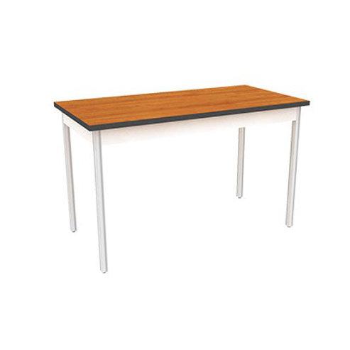 โต๊ะขาถอดเอนกประสงค์ หน้าลามิเนตลายไม้ขอบดำ ขาพับชุบโครเมียม TG-60120W