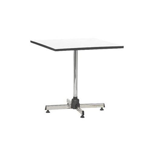โต๊ะสี่เหลี่ยมขาชุบโครเมียมเอนกประสงค์ (หน้าลามิเนตสีขาวขอบดำ) TG-7676