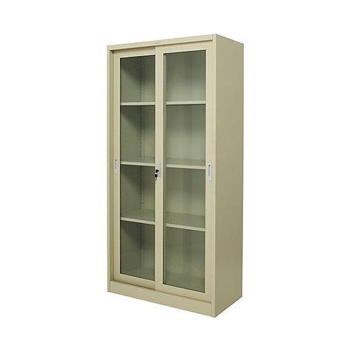 ตู้เหล็กสูงบานเลื่อนกระจก ZDG-1886