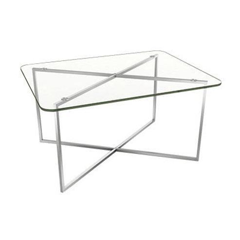Coffee Table PISA Glass Top (สี่เหลี่ยมผืนผ้าขอบมน) PIC86SRG