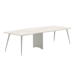 Abbie Form 7 Boat Shape Conference Table with Wirebox Top 2 pcs Series 7M4-XXXXX