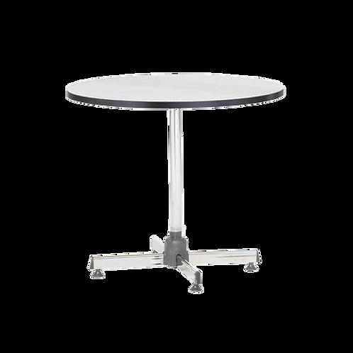 โต๊ะกลมขาชุบโครเมียมเอนกประสงค์ (หน้าลามิเนตสีขาวขอบดำ) TR-75