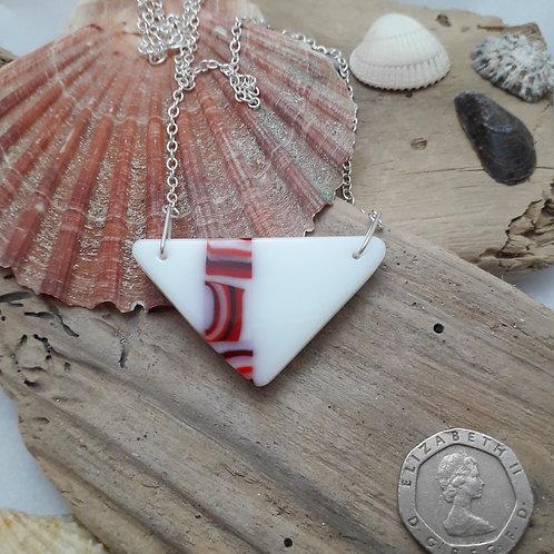 Red & White Triangular Pendant