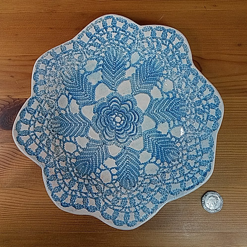 Turquoise Lace Platter