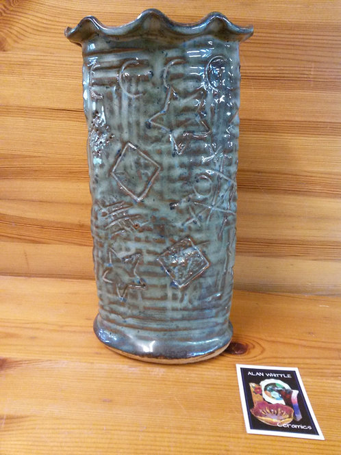 Large Oval Graffiti Vase