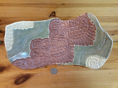 Footed Lace Platter