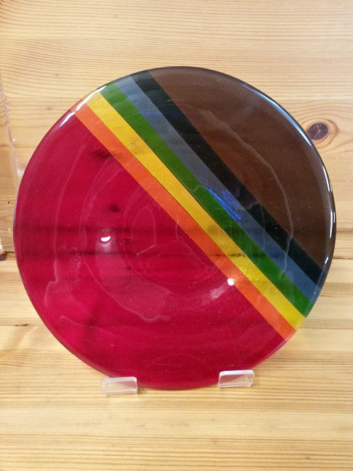 Hebridean Rainbow Med Glass Bowl