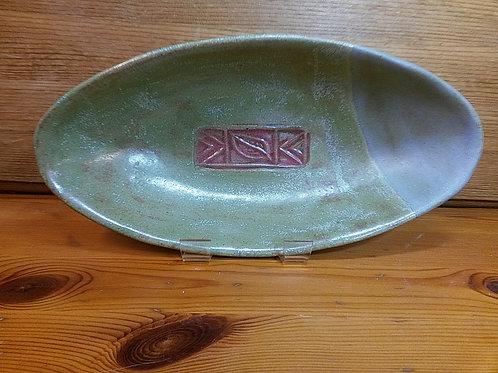 'Sandstorm', Oval Stoneware Bowl
