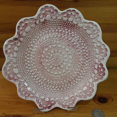 Pink Lace Embossed Dish